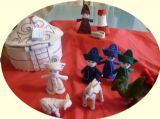 Felt Nativity set in Yurt from Kyrgyzstan.